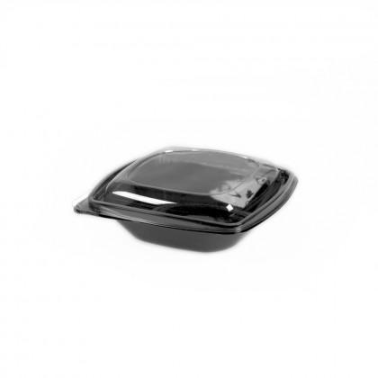 Castron salata cu capac, baza neagra, 750 ml., 100 buc./set
