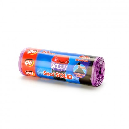 Saci menaj OTI SOLID 60L XL, violet, 20 buc./rola