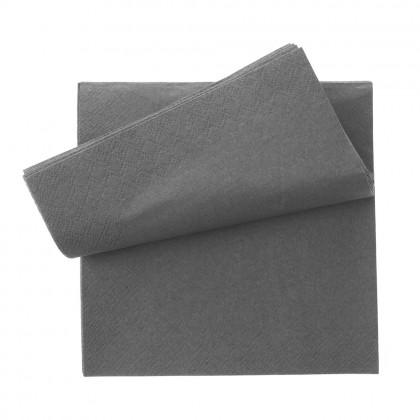 Servetel 33x33 cm., negru, 2 straturi, 250 buc./pachet