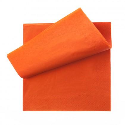 Servetel Katrin 33x33 cm., portocaliu, 3 straturi, 250 buc./pachet