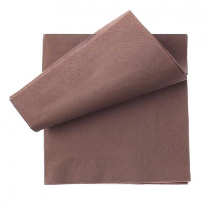Servetele Fasana 33x33 cm., maro, 3 straturi, 250 buc./pachet