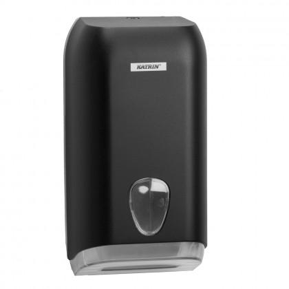 Dispenser Katrin, negru, hartie igienica pliata Bulk Pack
