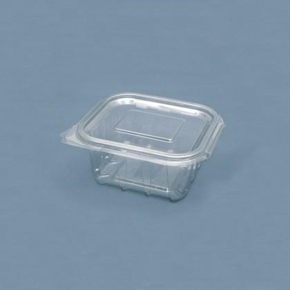 Caserola dreptunghiulara cu capac 375 ml., 60x125x110 mm, 100 buc./set