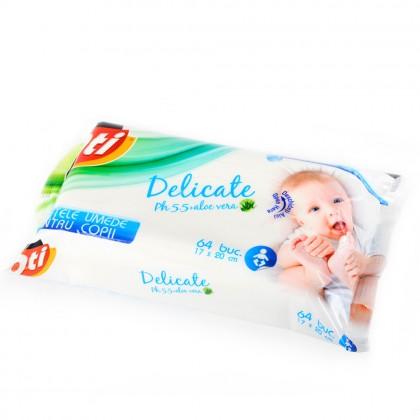 Servetele umede pentru copii, fara capac, OTI, 64 buc./pachet