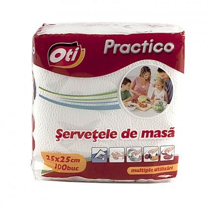 Servetele de masa OTI Practico, 25x25 cm, 100 buc./pachet