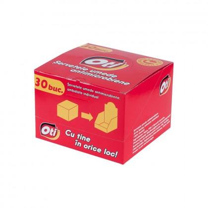 Servetele umede ambalate individual OTI, 30 buc./cutie